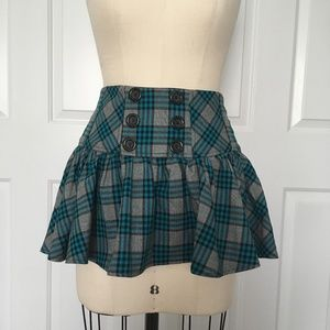 Candie's Juniors Plaid Mini Skirt